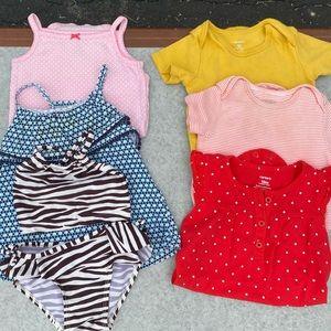 Spring/Summer 12-18 mo girls clothing lot